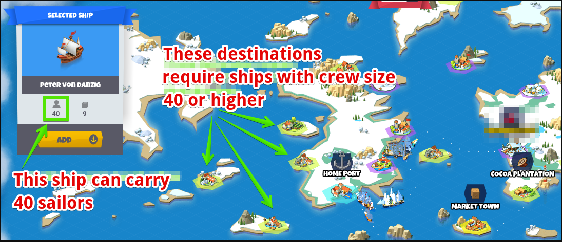 Why cannot I send a ship to a certain destination ...